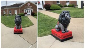 Marshall Lions Statues